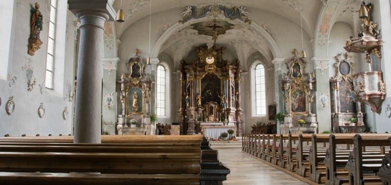 Kirchenführung - Vom heiligen Gallus zum heiligen Gebhard ...  Ein Einstieg verbunden mit einem Aufstieg über mehrere Etagen