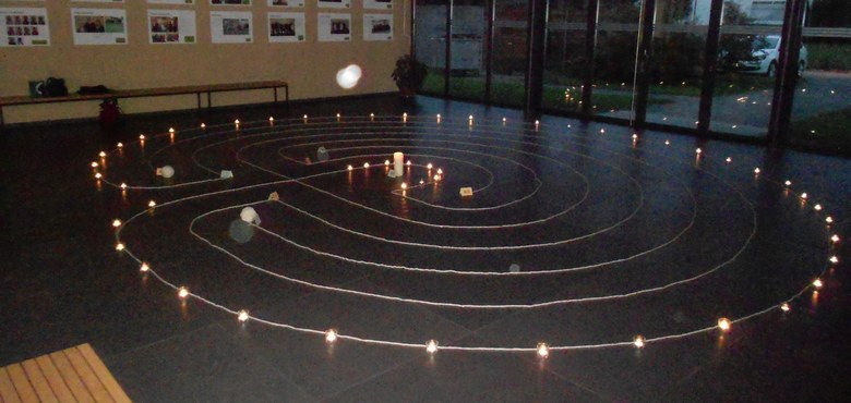 Meditation im Labyrinth