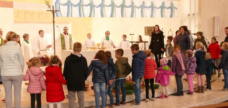 Familiengottesdienst mit Kuscheltieren