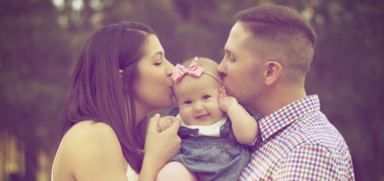 Beharrliche Eltern geben Kindern Halt